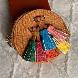 Handbags - Tassel coin purse, like new!